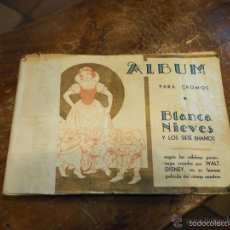 Coleccionismo Álbum: ALBUM COMPLETO BLANCANIEVES BLANCA NIEVES Y LOS SIETE ENANITOS. WALT DISNEY. EDITORIAL FHER AÑOS 40. Lote 58256541