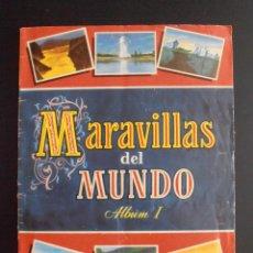Coleccionismo Álbum: ALBUM DE CROMOS MARAVILLAS DEL MUNDO ALBUM I COLECCION CULTURA BRUGUERA 1956 COMPLETO. Lote 58410961