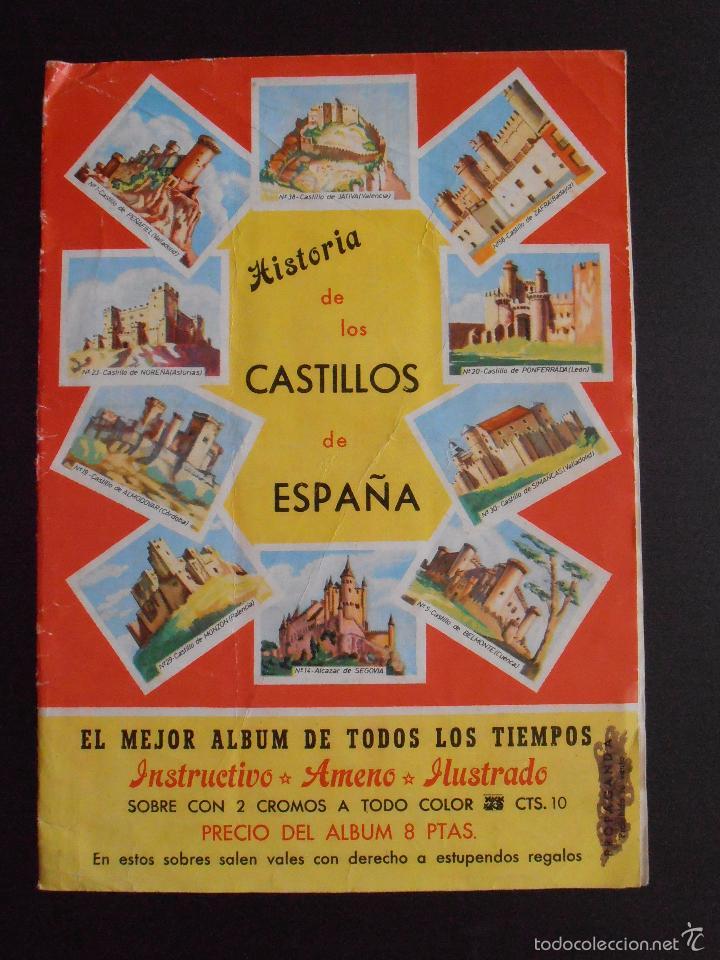ALBUM DE CROMOS HISTORIA DE LOS CASTILLOS DE ESPAÑA EDICIONES COSTA COMPLETO (Coleccionismo - Cromos y Álbumes - Álbumes Completos)
