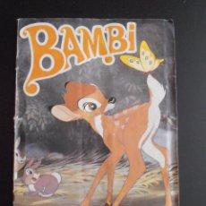 Coleccionismo Álbum: ALBUM DE CROMOS BAMBI 12 PTAS FHER COMPLETO SIN POSTER 1970. Lote 58411500