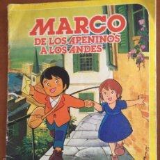 Coleccionismo Álbum: MARCO DE LOS APENINOS A LOS ANDES DE DANONE COMPLETO. Lote 58621514