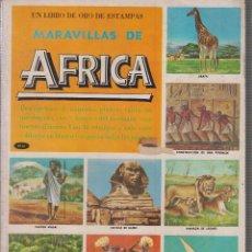 Coleccionismo Álbum: LIBRO DE ORO DE ESTAMPAS : LAS MARAVILLAS DE AFRICA - COMPLETO -ED. NOVARO 1971. Lote 59979907