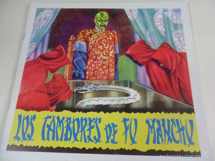LOS TAMBORES DE FU MANCHU. ALBUM DE CROMOS IMPRESOS. (Coleccionismo - Cromos y Álbumes - Álbumes Completos)