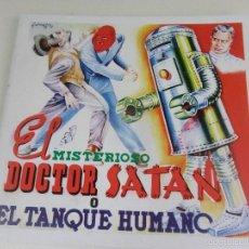 Coleccionismo Álbum: EL MISTERIOSO DOCTOR SATAN O EL TANQUE HUMANO. ALBUM DE CROMOS IMPRESOS.. Lote 59981811
