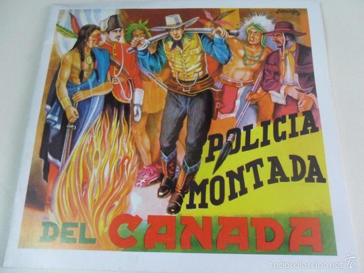 POLICIA MONTADA DEL CANADA. ALBUM DE CROMOS IMPRESOS. (Coleccionismo - Cromos y Álbumes - Álbumes Completos)