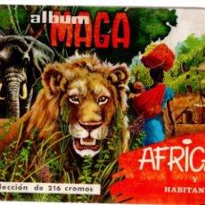 Coleccionismo Álbum: AFRICA Y SUS HABITANTES ALBUM COMPLETO MAGA. Lote 60038059