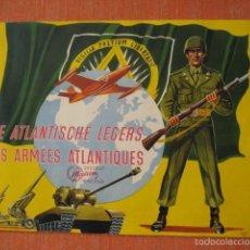 Coleccionismo Álbum: ÁLBUM CROMOS CHOCOLAT MEURISSE.LES ARMEES ATLANTIQUES.1952.IMPECABLE.CROMOS PEGADOS ARMAS GUERRA. Lote 60137759