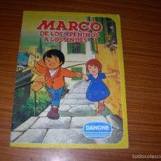Coleccionismo Álbum: MARCO DE LOS APENINOS A LOS ANDES COMPLETO 84 CROMOS EDITA DANONE . Lote 60278907