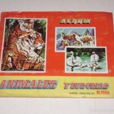 Coleccionismo Álbum: ALBUM ANIMALES Y SUS CRIAS - EDIT ALMEX 1971 - 100% COMPLETO. Lote 60618655