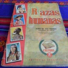 Coleccionismo Álbum: GRAN PRECIO. RAZAS HUMANAS 1ª SERIE COMPLETO 128 CROMOS. BRUGUERA AÑOS 50. BUEN ESTADO.. Lote 60829663