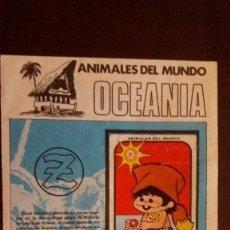 Coleccionismo Álbum: JUANITO ZAHOR. ANIMALES DEL MUNDO. OCEANIA. OPORTUNIDAD. ÚNICO EN VENTA. Lote 61407435