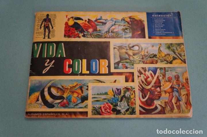 ÁLBUM COMPLETO DE VIDA Y COLOR AÑO 1965 DE ALES (Coleccionismo - Cromos y Álbumes - Álbumes Completos)
