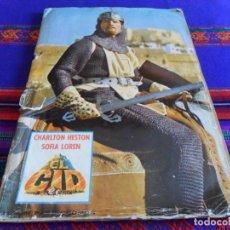 Coleccionismo Álbum: EL CID COMPLETO. FHER 1962. CHARLTON HESTON Y SOFIA LOREN. REGALO LOS DIEZ MANDAMIENTOS COMPLETO.. Lote 61746520
