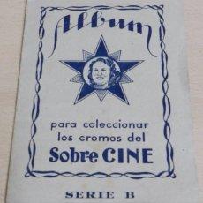 Coleccionismo Álbum: ALBUM SOBRE CINE. MUY RARO, AÑOS 40. SERIE B. COMPLETO CON 72 CROMOS. SU ANTERIOR PROPIETARIO COMPLE. Lote 61785140