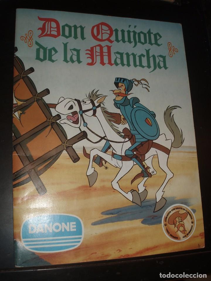ALBUM DON QUIJOTE DE LA MANCHA DANONE COMPLETO MUY BUEN ESTADO (Coleccionismo - Cromos y Álbumes - Álbumes Completos)