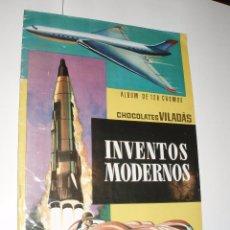 Coleccionismo Álbum: ALBUM INVENTOS MODERNOS CHOCOLATES VILADÁS COMPLETO MUY BUENO. Lote 62301728