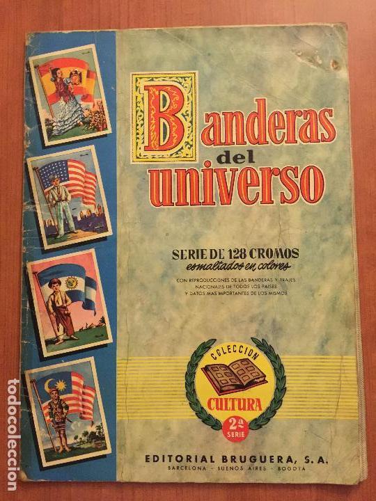 ALBUM COMPLETO BANDERAS DEL UNIVERSO. (Coleccionismo - Cromos y Álbumes - Álbumes Completos)