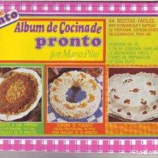 Coleccionismo Álbum: PRONTO - ALBUM DE COCINA PRONTO - ÁLBUM COMPLETO . Lote 62360068