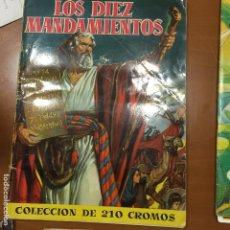 Coleccionismo Álbum: LOS DIEZ MANDAMIENTOS COMPLETO. Lote 62495192
