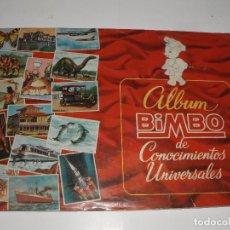 Coleccionismo Álbum: ALBUM CONOCIMIENTOS UNIVERSALES BIMBO COMPLETO. Lote 62668116