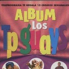 Coleccionismo Álbum: ALBUM CROMOS COMPLETO TP GUAYS AÑOS 90 TELEPROGRAMA SIMPSON-PRINCIPE BEL AIR-UN DOS TRES. Lote 62702724