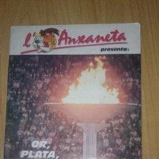 Coleccionismo Álbum: ALBUM L'AXANETA-OR,PLATA,BRONZE PATROCINADO POR LA CAIXA CATALUNYA-COMPLETO-1988. Lote 63968683