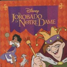 Coleccionismo Álbum: ALBUM CROMOS COMPLETO EL JOROBADO DE NOTRE DAME PANINI. Lote 64291039