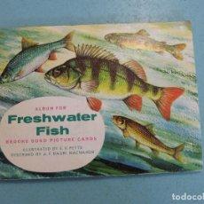 Coleccionismo Álbum: ALBUM COMPLETO DE FRESHWATER FISH PESCADO DE AGUA DULCE CROMOS CIGARRILLOS INGLESES. Lote 65020315