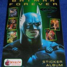 Coleccionismo Álbum: BATMAN FOREVER - MERLIN STICKERS ¡COMPLETO E IMPECABLE!. Lote 66914066
