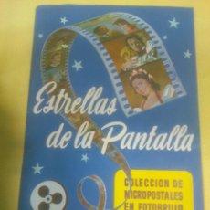 Coleccionismo Álbum: ESTRELLAS DE LA PANTALLA, ALBUM DE CROMOS COMPLETO, EDITORIAL RUIZ ROMERO, AÑO 1954. Lote 67067146