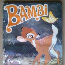 Coleccionismo Álbum: ALBUM BAMBI; FHER - COMPLETO; INCLUYE POSTER CENTRAL CON 9 ADHESIVOS. Lote 67631873