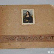 Coleccionismo Álbum: FAMOUS WORKS OF ART - COMPLETO - ALBUM DE CROMOS DE CIGARRILLOS - ALBUM OF CIGARETTE CARDS. Lote 68603197