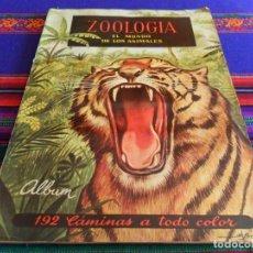 Coleccionismo Álbum: ZOOLOGÍA COMPLETO 192 CROMOS FERCA 1961 MBE. REGALO ALBUM DE CROMOS ANIMALES Y PLANTAS MARINAS. FHER. Lote 69239541