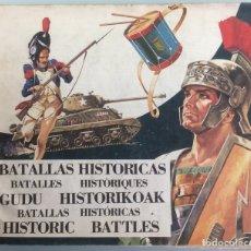 Coleccionismo Álbum: BATALLAS HISTORICAS. DIFUSORA DE LA CULTURA. 1974. MBE. Lote 71952533