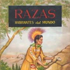 Coleccionismo Álbum: ÁLBUM DE CROMOS RAZAS. HABITANTES DEL MUNDO - EDICIONES FERCA - 1ª ED. 1961 COMPLETO.. Lote 72107927