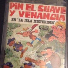 Coleccionismo Álbum: ÁLBUM PIN EL SUAVE Y VENANCIA. AVENTURA EN LA ISLA MISTERIOSA. CHOCOLATES LA HERMINIA. Lote 72311723