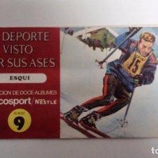 Coleccionismo Álbum: EL DEPORTE VISTO POR SUS ASES ESQUÍ ÁLBUM COMPLETO. COLECCIÓN CHOCOSPORT/NESTLÉ. Lote 72955511