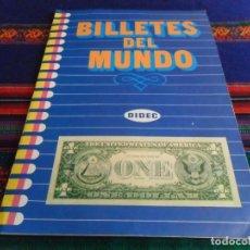 Coleccionismo Álbum: BILLETES DEL MUNDO COMPLETO 225 CROMOS. DIDEC 1984. MUY BUEN ESTADO.. Lote 74163035