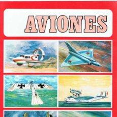Coleccionismo Álbum: ALBUM DE CROMOS AVIONES. 32 CROMOS. SUSAETA 1971. COMPLETO. Lote 74290763