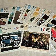 Coleccionismo Álbum: 60 FICHAS AUTOS DE COLECCIÓN. Lote 74315123