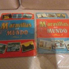 Coleccionismo Álbum: ALBUM MARAVILLAS DEL MUNDO I Y II. Lote 74736083