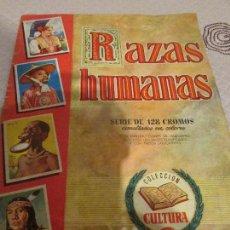Coleccionismo Álbum: ALBUM DE CROMOS RAZAS HUMANAS. COLECCION CULTURA. 1ª SERIE. BRUGUERA.. Lote 74737855