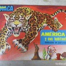 Coleccionismo Álbum: ÁLBUM DE CROMOS - AMÉRICA Y SUS HABITANTES - ED MAGA - 252 CROMOS - PERFECTO!!!. Lote 75274187