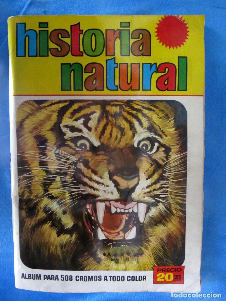ÁLBUM COMPLETO. HISTORIA NATURAL. EDITORIAL BRUGUERA, 1967. (Coleccionismo - Cromos y Álbumes - Álbumes Completos)