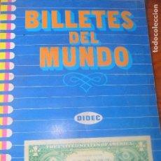 Coleccionismo Álbum: BILLETES DEL MUNDO - ALBUM DE CROMOS COMPLETO - DIDEC 1984 - . Lote 76006235