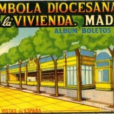 Coleccionismo Álbum: TOMBOLA DIOCESANA DE LA VIVIENDA, 240 VISTAS DE ESPAÑA. COMPLETO. Lote 76023483