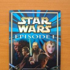 Coleccionismo Álbum: STAR WARS EPISODE I - MERLIN COLLECTIOS 1999 -COMPLETO-FALTAN LAS PEGATINAS LEGO DE LA CONTRAPORTADA. Lote 76353503