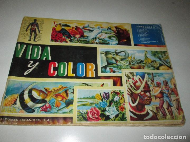 """ALBUM /""""VIDA Y COLOR/"""" COMPLETO ALBUNES ESPAÑOLES S.A  DE 1965"""