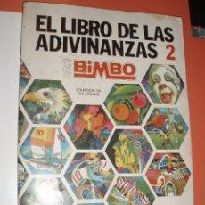 Coleccionismo Álbum: ALBUM COMPLETO EL LIBRO DE LAS ADIVINANZAS 2 BIMBO. Lote 76751683