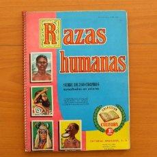 Coleccionismo Álbum: ÁLBUM RAZAS HUMANAS - EDITORIAL BRUGUERA 1958 - COMPLETO, 250 CROMOS -VER FOTOS EN EL INTERIOR. Lote 76879351